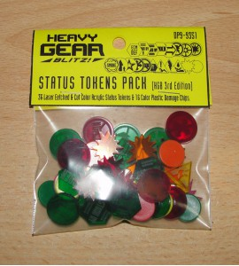 Heavy Gear Blitz Status Tokens Pack 3rd Edition