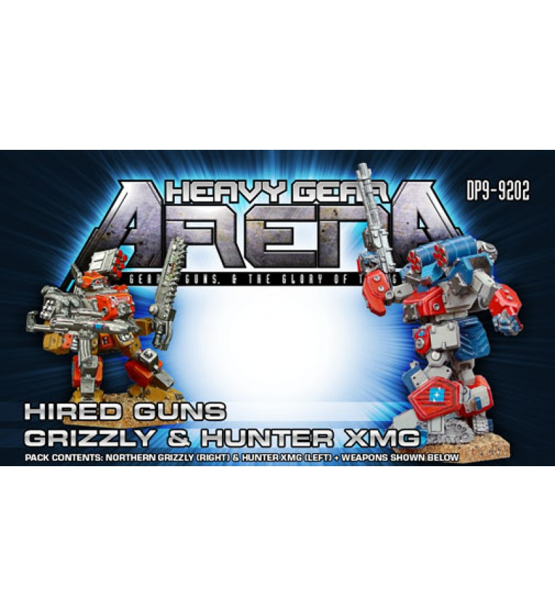 Heavy Gear Arena - Hired Guns Grizzly & Hunter XMG Pack