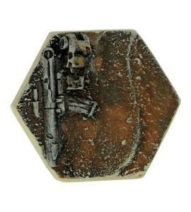25mm Desert Hex Base E