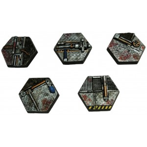 25mm Techno Hex Bases Five Pack