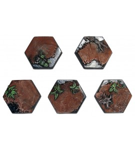 25mm Jungle Hex Bases Five Pack