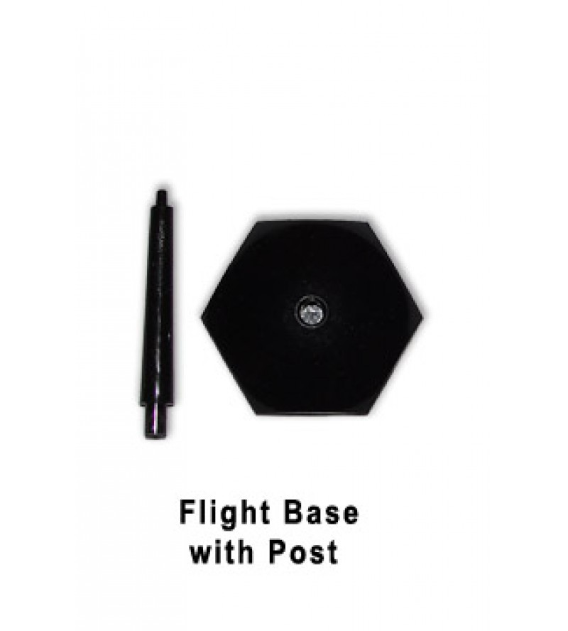 26mm Flight Base with 27mm Post (Black Plastic)