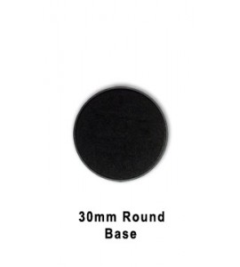 30mm Round Base (Black Plastic)