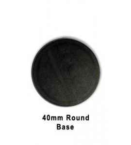 40mm Round Base (Black Plastic)