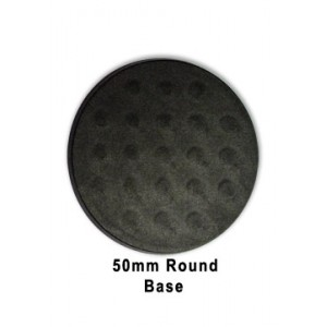 50mm Round Base (Black Plastic)