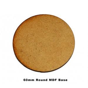 60mm Round Base (MDF)