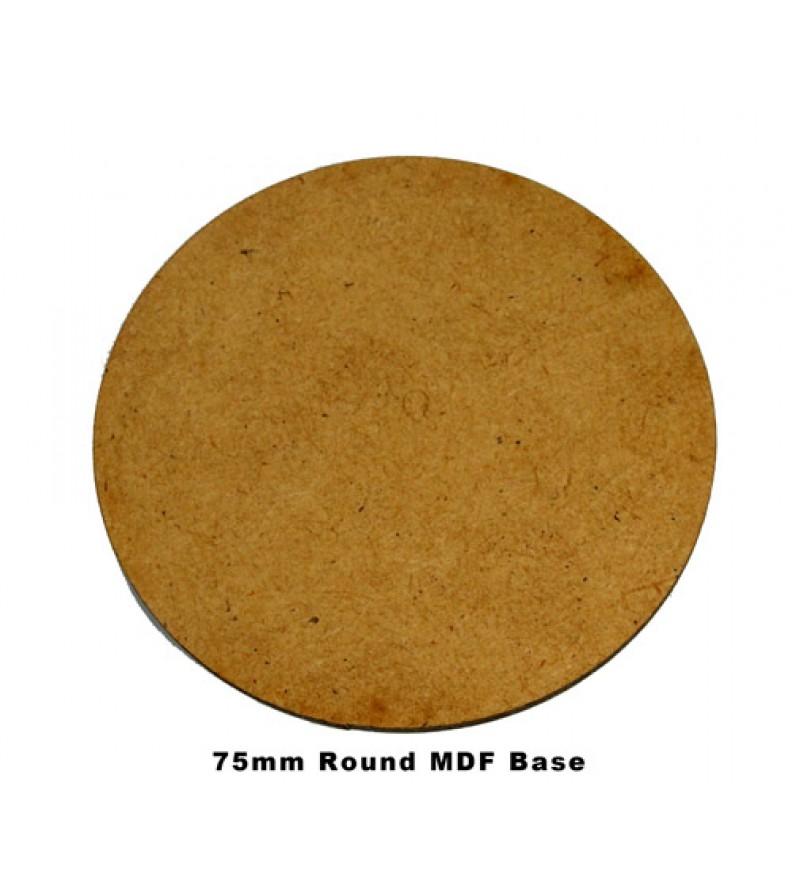 75mm Round Base (MDF)