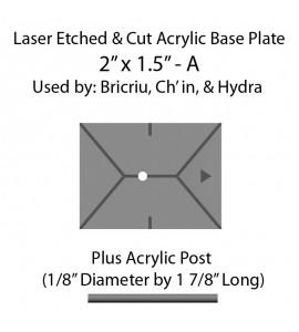 "Jovian Wars: Acrylic Base Plate 2"" x1.5""A & Post"