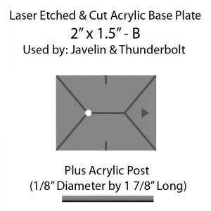 "Jovian Wars: Acrylic Base Plate 2""x1.5""B & Post"