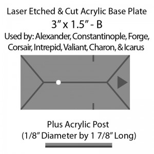 "Jovian Wars: Acrylic Base Plate 3""x1.5""B & Post"
