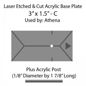 "Jovian Wars: Acrylic Base Plate 3""x1.5""C & Post"