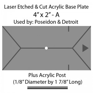 "Jovian Wars: Acrylic Base Plate 4""x2""A & Post"