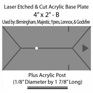 "Jovian Wars: Acrylic Base Plate 4""x2""B & Post"