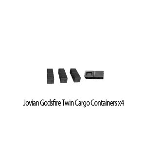 Jovian Wars: Jovian Godsfire Twin Cargo Pewter Parts x4